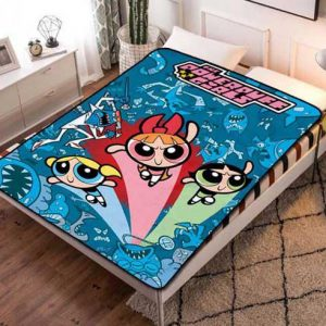 The Powerpuff Girls Fleece Blanket Throw Bed Set