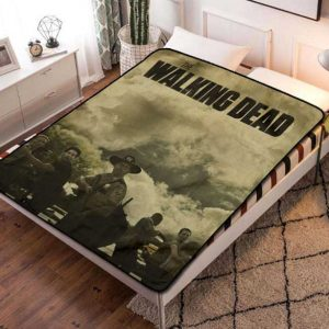 The Walking Dead Fleece Blanket Throw Bed Set