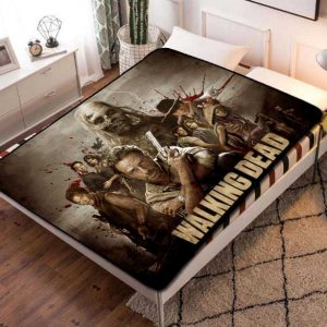 The Walking Dead Characters Fleece Blanket Throw Bed Set