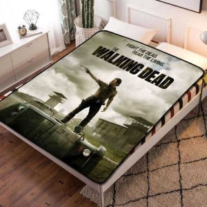 The Walking Dead TV Series Fleece Blanket Throw Bed Set