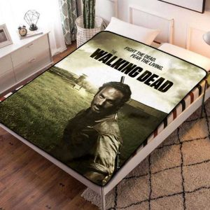 The Walking Dead TV Shows Fleece Blanket Throw Quilt