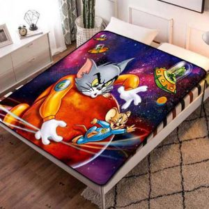 Tom and Jerry Style Fleece Blanket Throw Bed Set