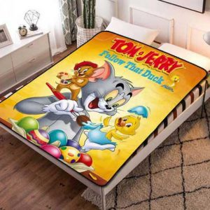 Tom and Jerry Poster Fleece Blanket Throw Bed Set
