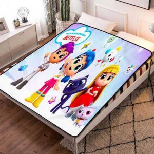 True and the Rainbow Kingdom All Characters Fleece Blanket Throw Quilt