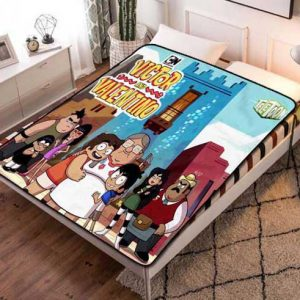 Victor and Valentino Characters Quilt Blanket Throw Fleece