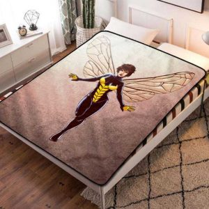 The Wasp Comic Fleece Blanket Throw Bed Set