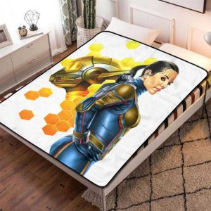 The Wasp Evangeline Lilly Fleece Blanket Throw Bed Set