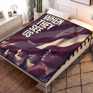 When They See Us TV Series Fleece Blanket Throw Quilt