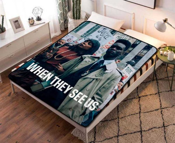 Chillder When They See Us Blanket. When They See Us Fleece Blanket Throw Bed Set Quilt Bedroom Decoration.