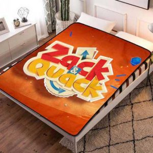 Zack & Quack Poster Fleece Blanket Throw Quilt