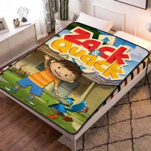 Zack & Quack Characters Fleece Blanket Throw Bed Set