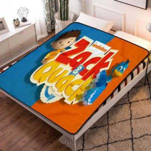 Zack & Quack Kids Fleece Blanket Throw Bed Set
