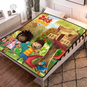 Zack & Quack Fleece Blanket Throw Bed Set