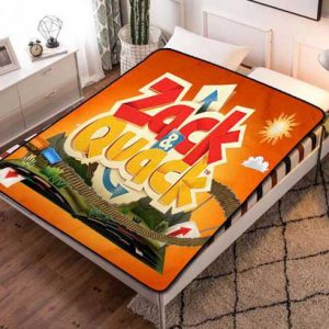 Zack & Quack Book Fleece Blanket Quilt