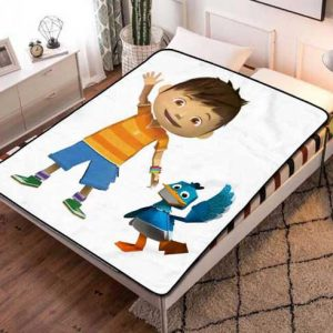 Zack & Quack Cartoon Fleece Blanket Throw Quilt