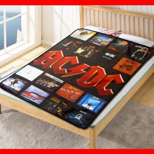ACDC AC/DC Album Covers Rock Band Quilt Blanket Throw Fleece