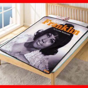 Aretha Franklin Try A Little Tenderness Quilt Blanket Throw Fleece