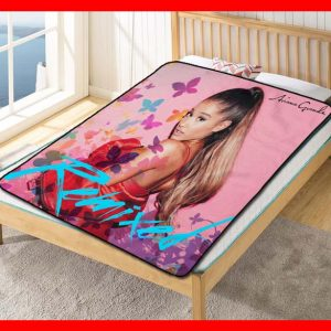 Ariana Grande #1893 Blanket Quilt Bedding Bedroom Set