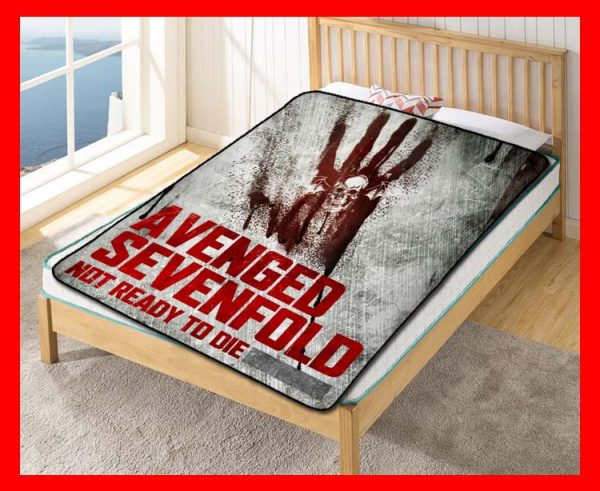Avenged Sevenfold Not Ready To Die Quilt Blanket Fleece Bed Set
