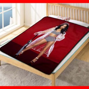 Becky G Umbrella Fleece Blanket Throw Quilt