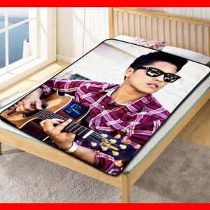 Bruno Mars Guitar Fleece Blanket Throw Quilt