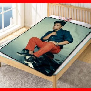 Bruno Mars Greatest Hits Quilt Blanket Throw Fleece
