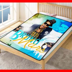 Bruno Mars #2617 Blanket Quilt Bedding Bedroom Set