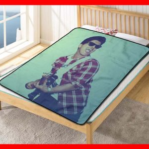 Bruno Mars Song Fleece Blanket Throw Quilt
