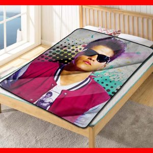 Bruno Mars Quilt Blanket Fleece Bed Set