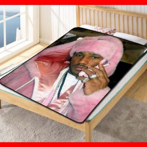 Cam'ron On The Phone Camron Quilt Blanket Fleece Bed Set