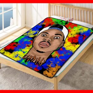 Chillder Chance the Rapper Blanket. Chance the Rapper Fleece Blanket Throw Bed Set Quilt Bedroom Decoration.