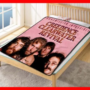 Creedence Clearwater Revival Transmission Impossible Quilt Blanket Fleece Throw