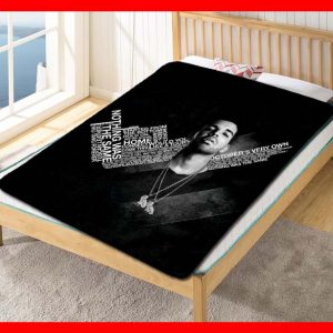 Drake The Gift Without a Curse Quilt Blanket Fleece Throw
