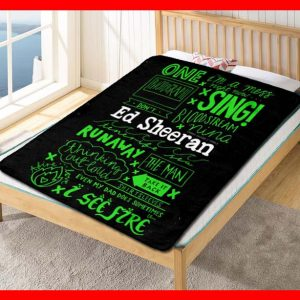 Ed Sheeran Songs Quotes Quilt Blanket Throw Fleece