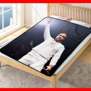 French Montana On Stage Quilt Blanket Throw Fleece