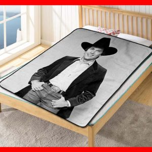 George Strait Singer Quilt Blanket Fleece Bed Set