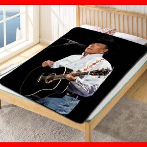 Chillder George Strait Blanket. George Strait Fleece Blanket Throw Bed Set Quilt Bedroom Decoration.