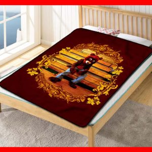 Kanye West The College Dropout Quilt Blanket Fleece Throw