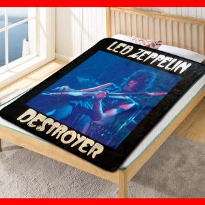 Led Zeppelin Album Band #1608 Blanket Quilt Bedding Bedroom Set