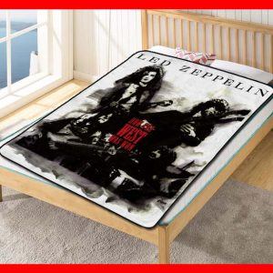 Led Zeppelin Album Band #1604 Blanket Quilt Bedding Bedroom Set