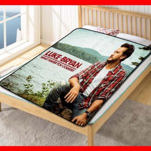 Luke Bryan What Makes You Country Quilt Blanket Throw Fleece