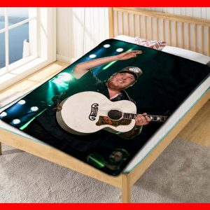 Luke Combs Live On Stage Quilt Blanket Fleece Bed Set