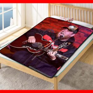 Luke Combs Live Fleece Blanket Throw Quilt