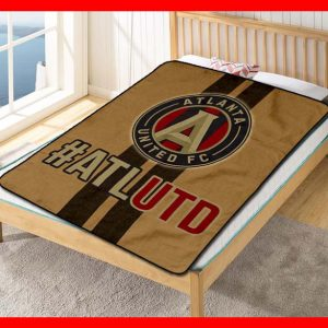 Atlanta United FC MLS Soccer Club Quilt Blanket Fleece Throw