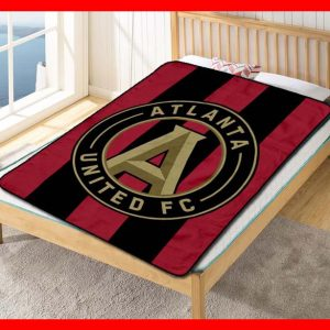 Chillder Atlanta United FC Blanket. Atlanta United FC Fleece Blanket Throw Bed Set Quilt Bedroom Decoration.
