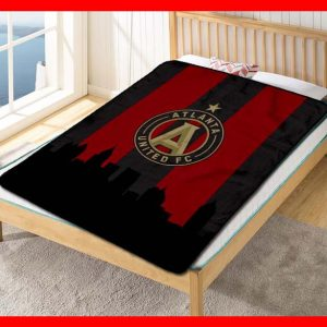 Atlanta United FC Soccer Team Fleece Blanket Throw Quilt