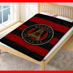 Atlanta United FC Blanket Quilt Bedding Bedroom Set