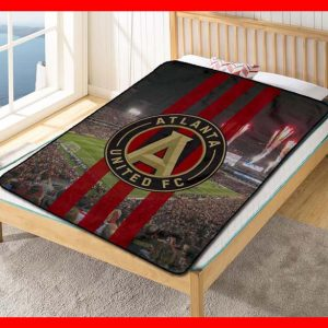 Atlanta United FC MLS Soccer Team Blanket Quilt Bedding Bedroom Set