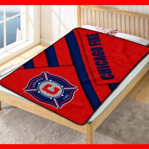 Chicago Fire FC Football Club MLS Soccer Team Quilt Blanket Throw Fleece
