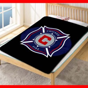 Chicago Fire FC Football Club Soccer Team Quilt Blanket Fleece Bed Set